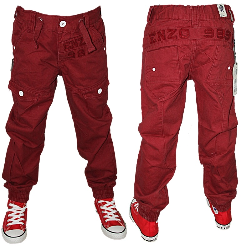 NEW KIDS BOYS ENZO JEANS EZBB152 & EZBB153 TAPERED CUFFED CHINOS ...