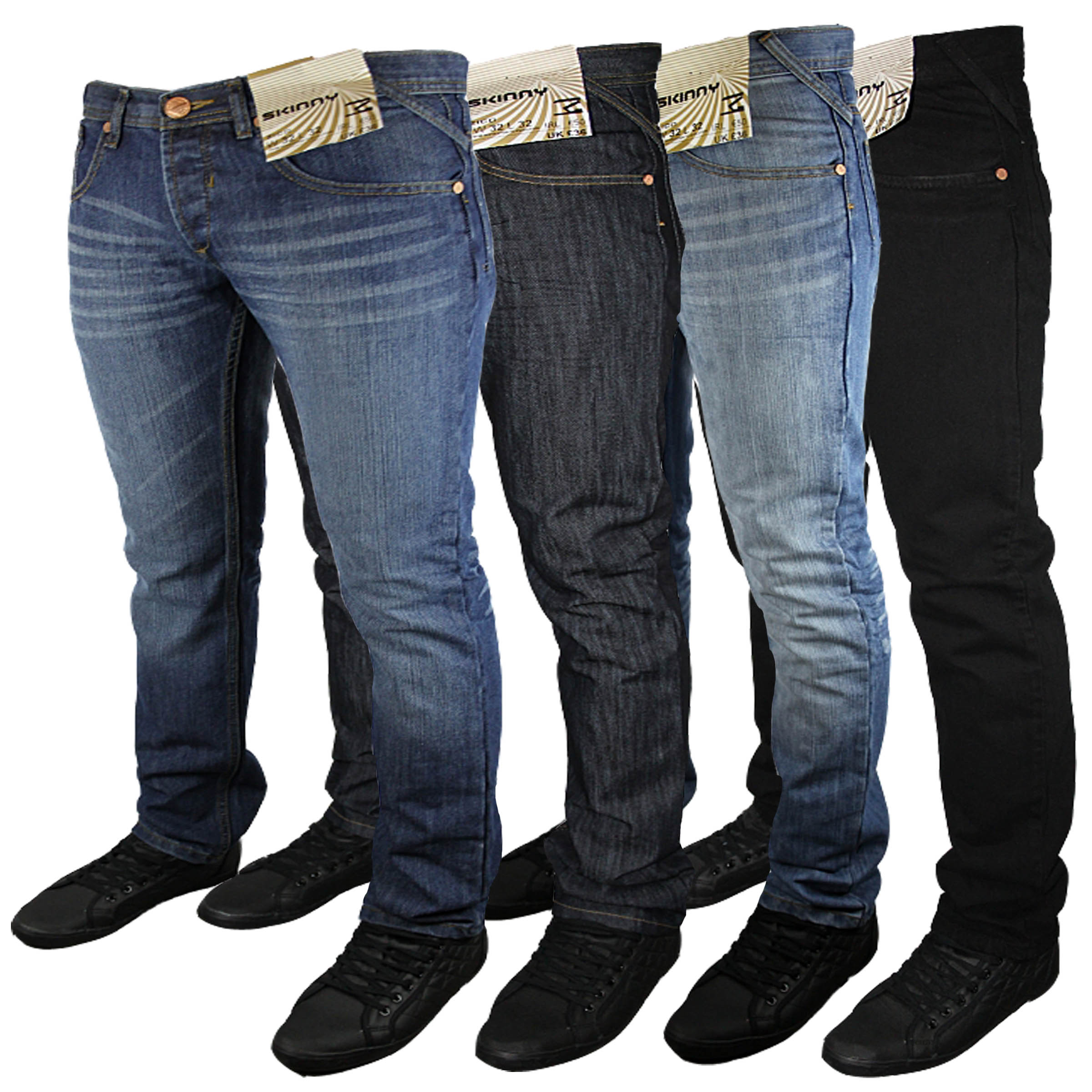 Mens Zico Skinny Basic Designer Branded Slim Fit Jeans All