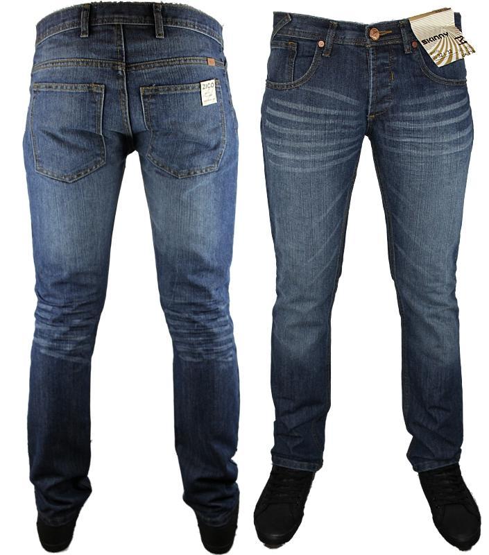 Mens Zico Skinny Basic Designer Branded Slim Fit Jeans All Waist And Leg Sizes Ebay