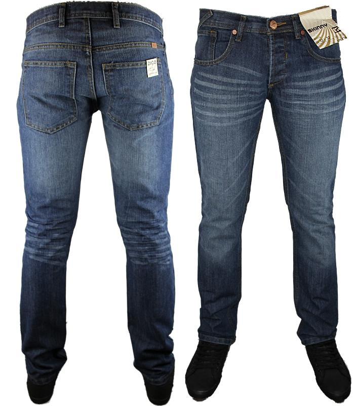 MENS ZICO SKINNY BASIC DESIGNER BRANDED SLIM FIT JEANS ALL WAIST ...