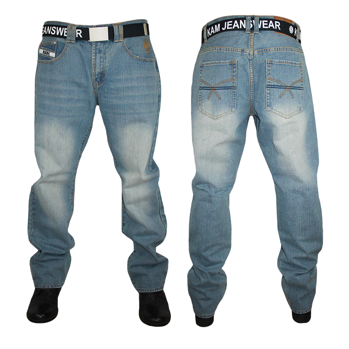 NEW-MENS-FORGE-BY-KAM-DESIGNER-BOOT-CUT-JEANS-ALL-WAIST-AND-LEG-BIG-KING-SIZES