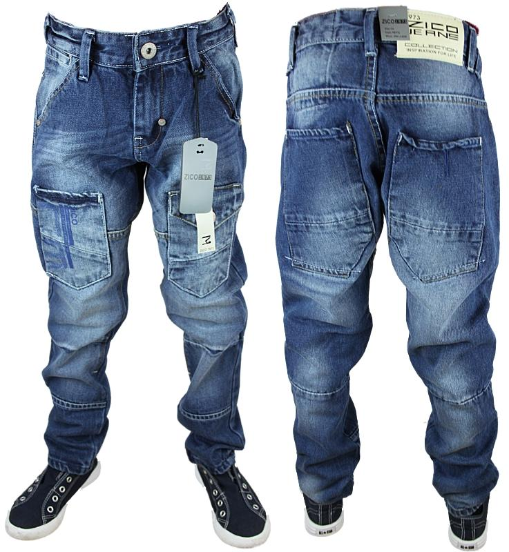 NEW BOYS KIDS BLUE ZICO MJT32B DESIGNER BRANDED TAPERED FIT JEANS ALL WAIST SIZE