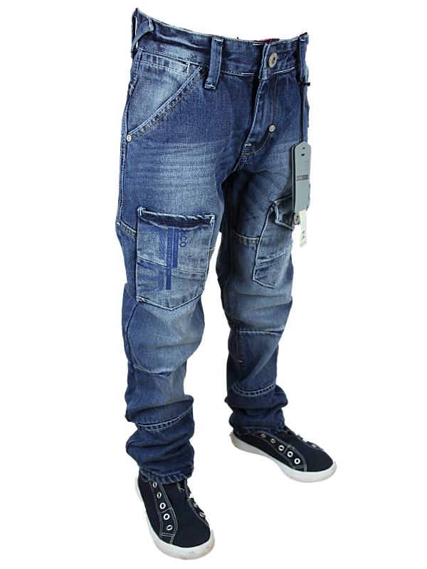 NEW-BOYS-KIDS-BLUE-ZICO-MJT32B-DESIGNER-BRANDED-TAPERED-FIT-JEANS-ALL-WAIST-SIZE