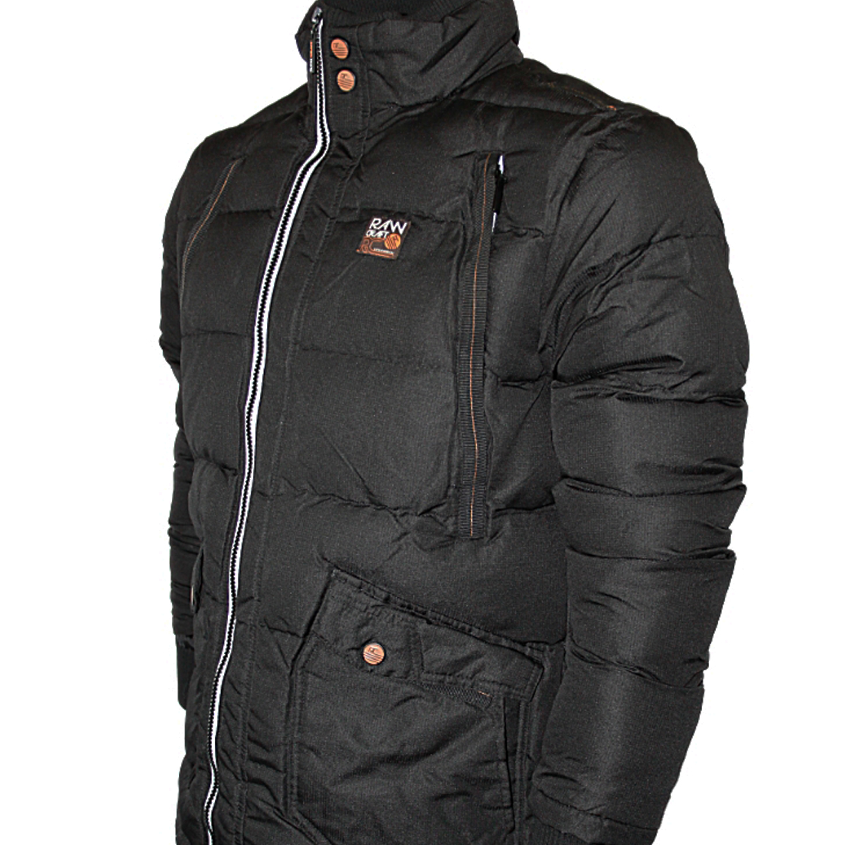 BRAND NEW MENS BLACK RAWCRAFT SIGNPOST DESIGNER BRANDED PADDED JACKET SIZES S-XL | EBay
