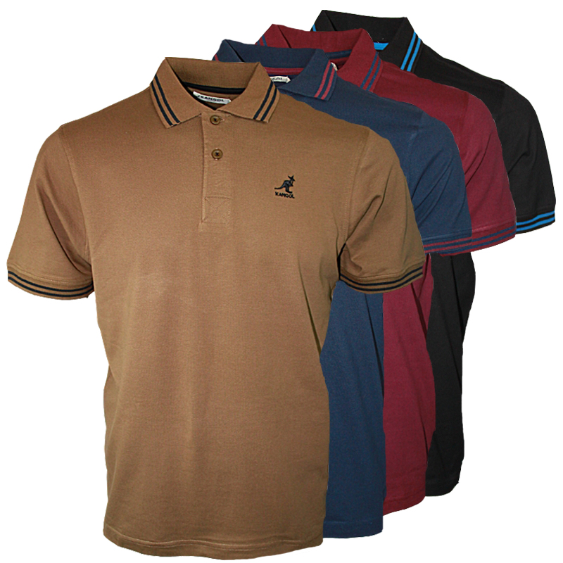 New mens kangol joshua 656 designer branded polo neck t for Branded polo t shirts