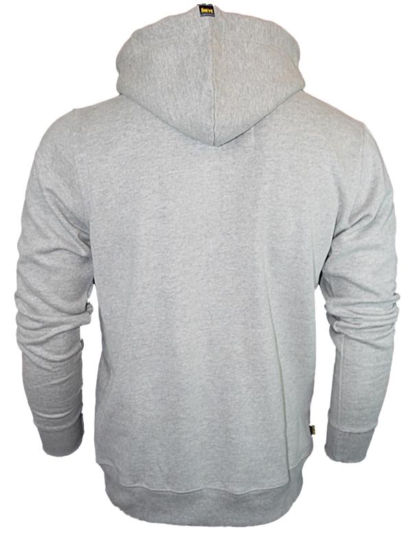 New Mens Grey Hoodies Le Breve Jeans Thomas Zip Thru Hooded Jumper