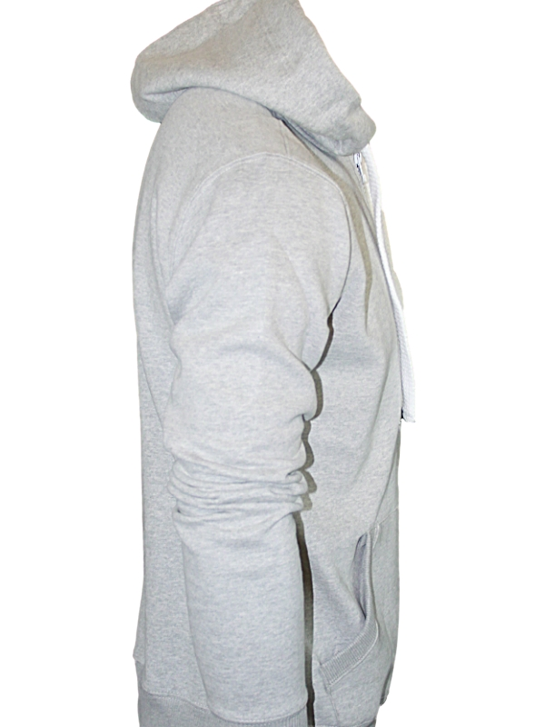 NEW MENS GREY HOODIES LE BREVE JEANS THOMAS ZIP THRU HOODED JUMPER