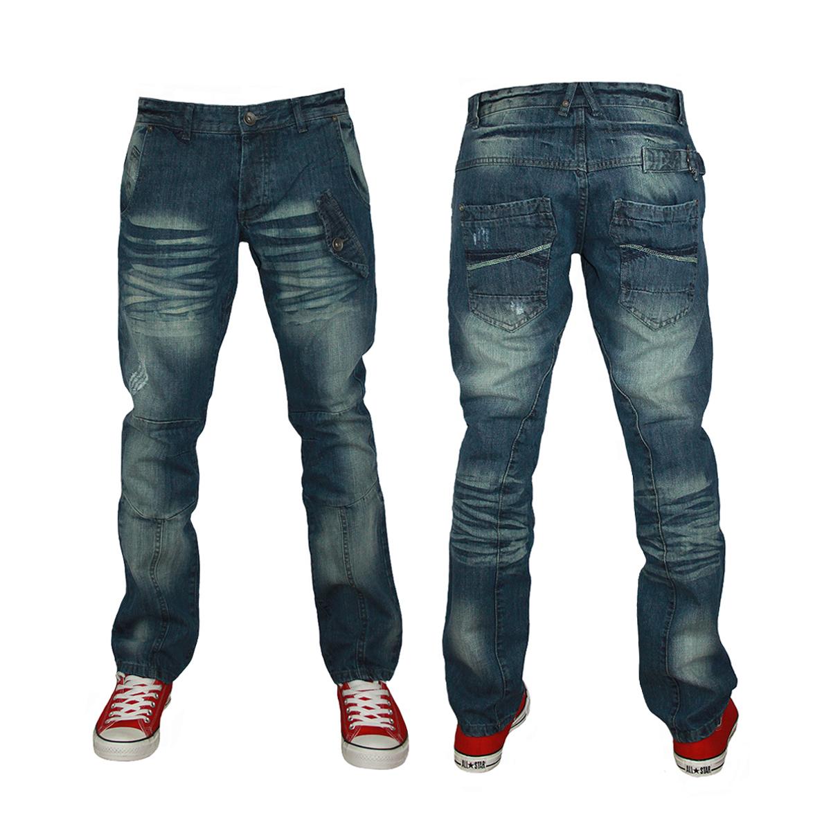 New Mens Zico Jeans Illy Designer Branded Regular Fit Jeans All Waist Leg Size Ebay