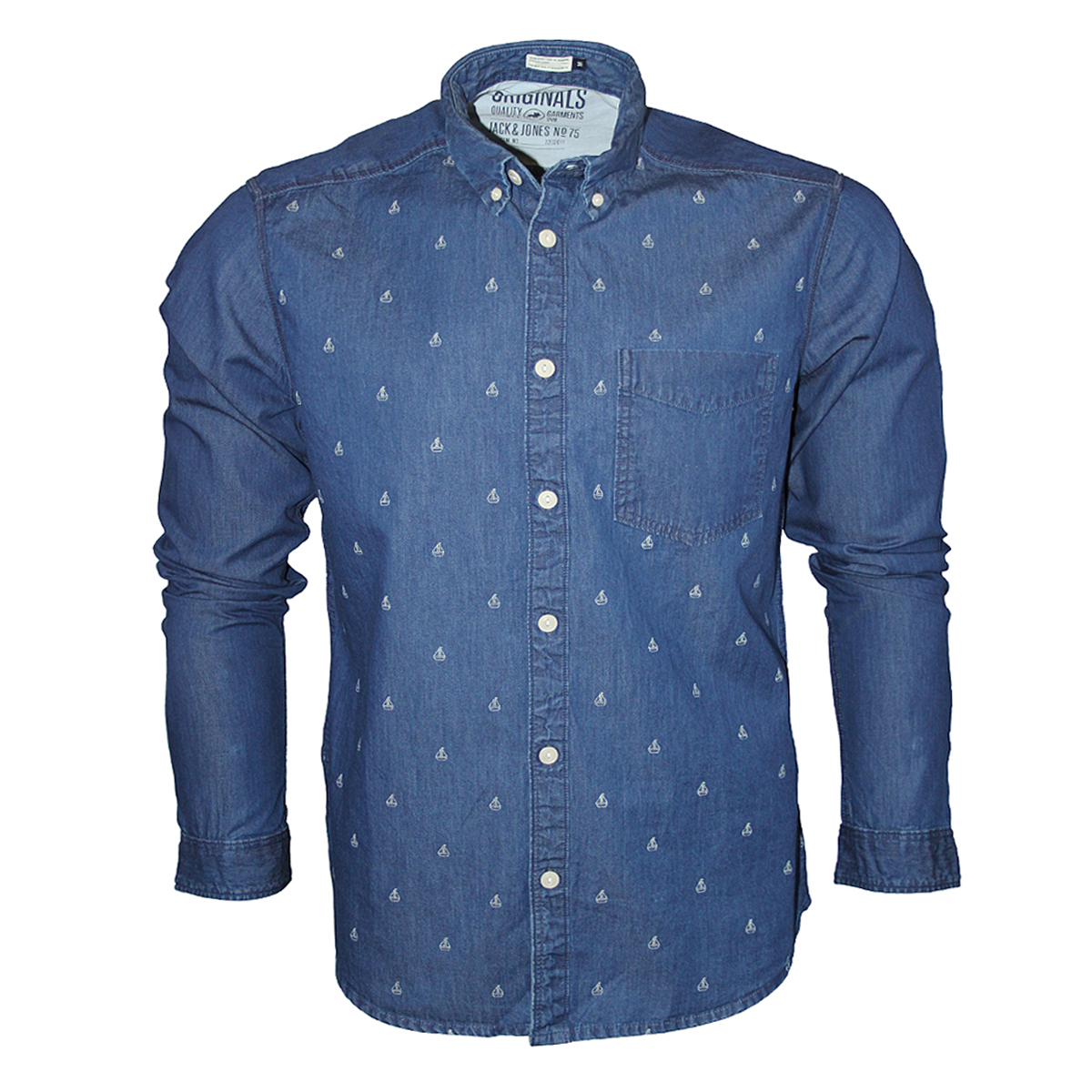 New Mens Denim Jack Amp Jones Jeans Robin Long Sleeved Slim Fit Shirt Sizes S Xxl Ebay