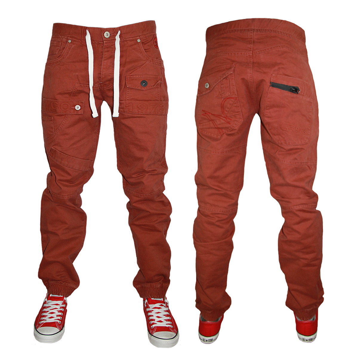 Kids Boys Zico Jeans Mjt38 Designer Cuffed Tapered Chinos All Waist And Leg Size