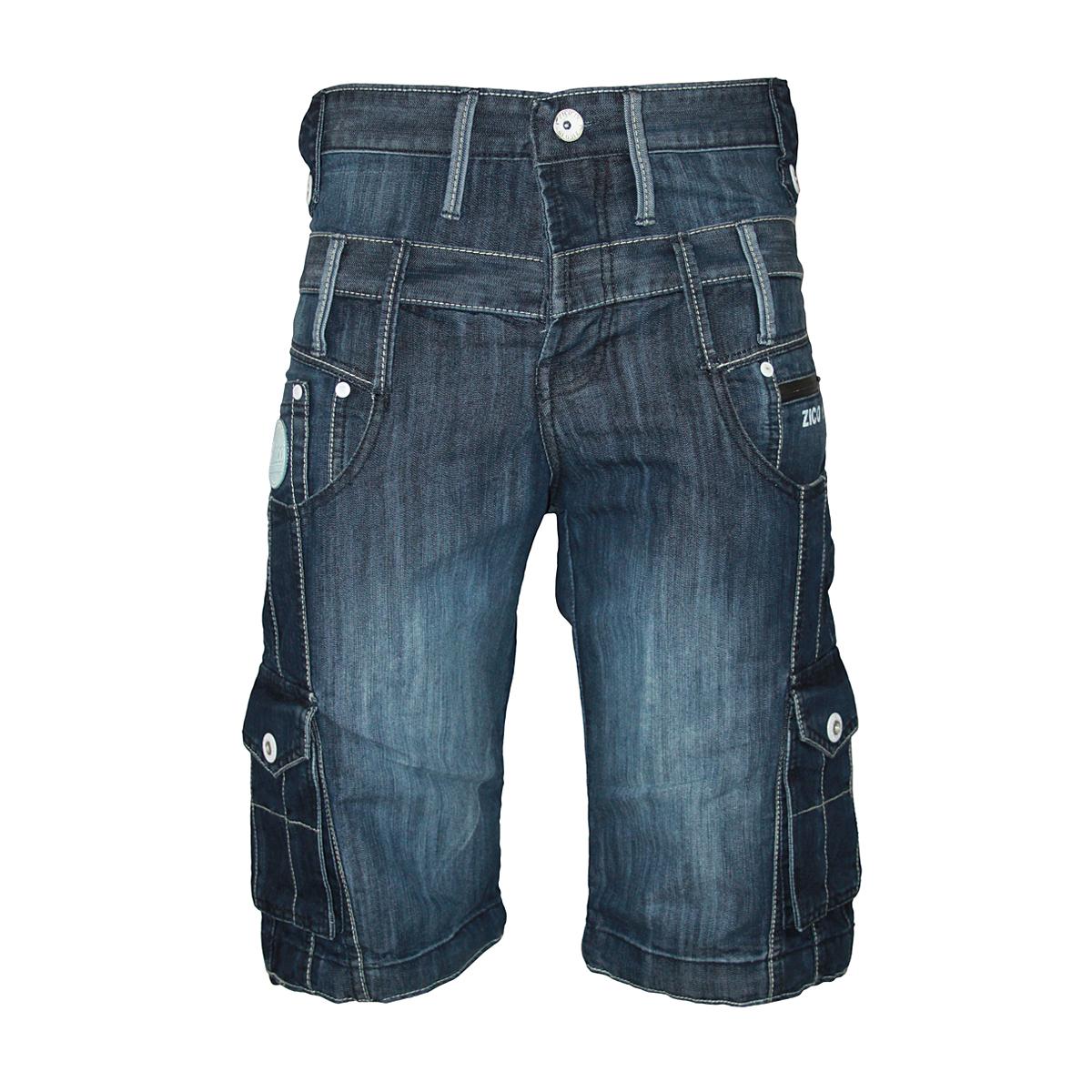 New Mens Stonewash Zico Jeans Mjt25 Designer Knee Length Shorts All Waist Sizes Ebay