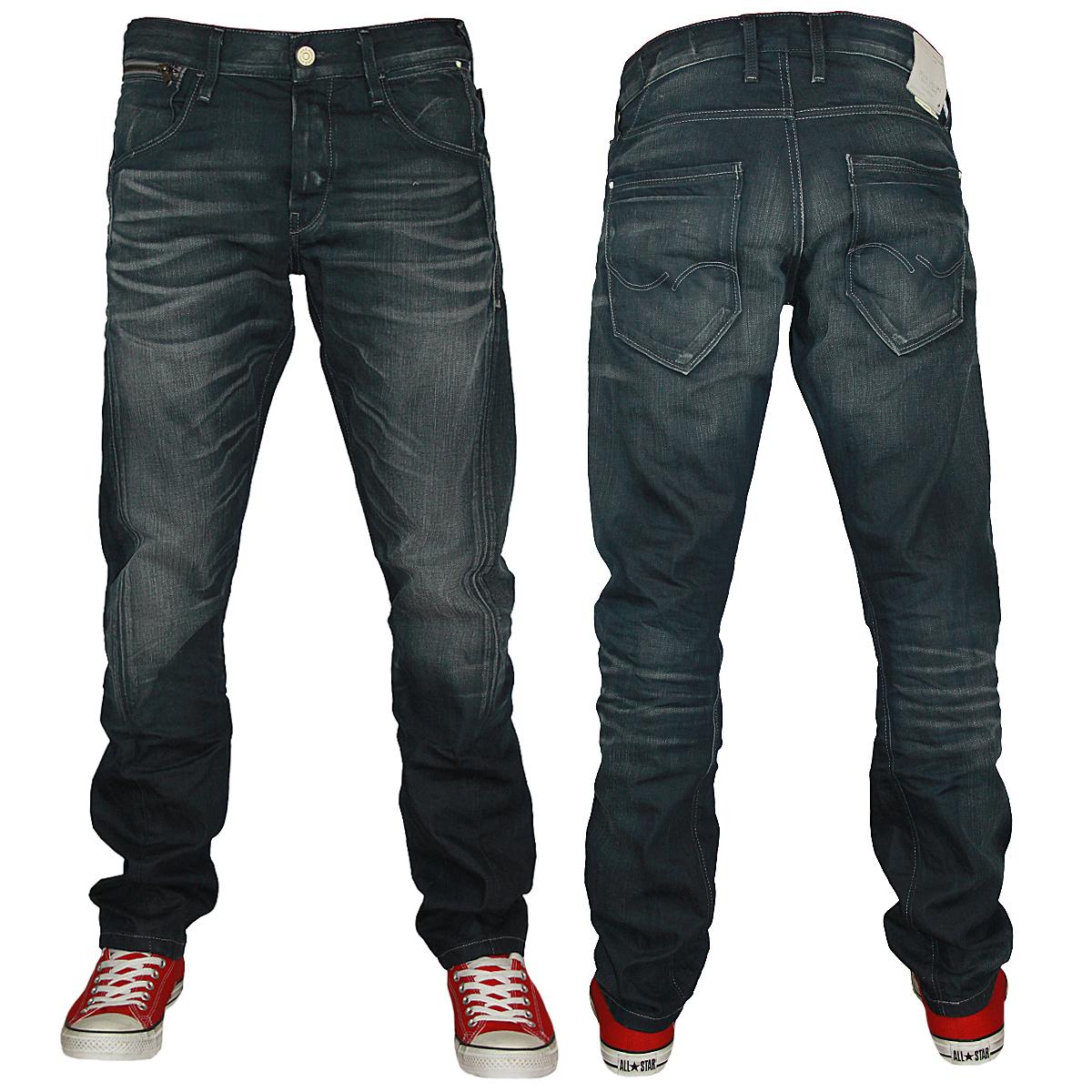 new mens blue jack jones nick lab regular fit denim jeans all waist. Black Bedroom Furniture Sets. Home Design Ideas