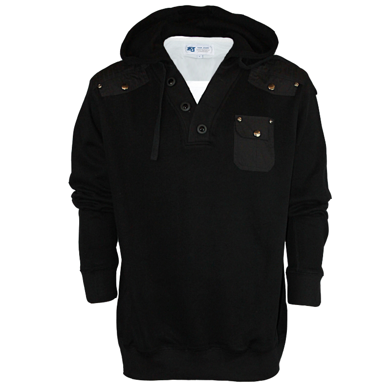 BB-MENS-HOODIES-BLACK-KAM-KBS-5059-LAYERED-HOODED-JACKET-BIG-KING-SIZES-2XL-8XL