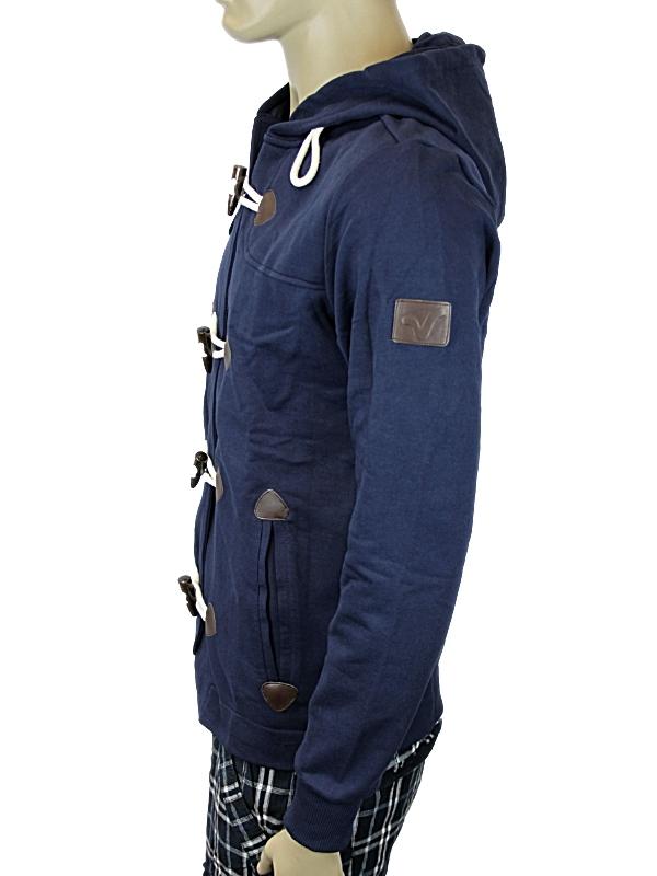 herren blaue jacke mit kapuze von voi jeans export xs xxl. Black Bedroom Furniture Sets. Home Design Ideas
