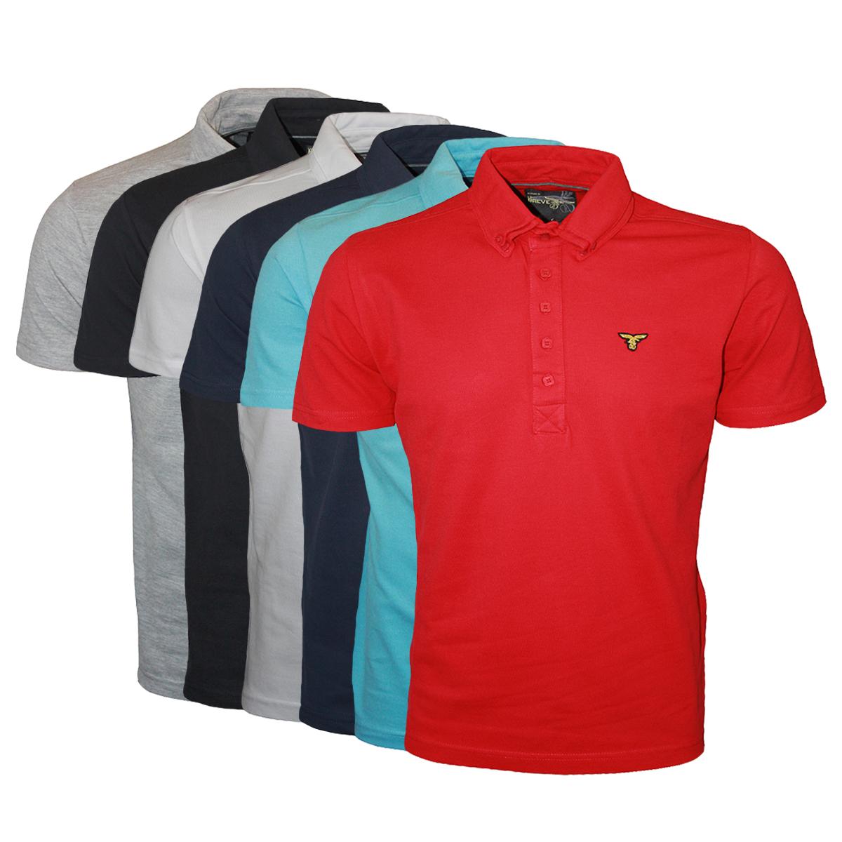 Design t shirt collar - Le Breve Jeans Mens Designer Bill Collar Polo Neck T Shirt Top Sizes S Xxl