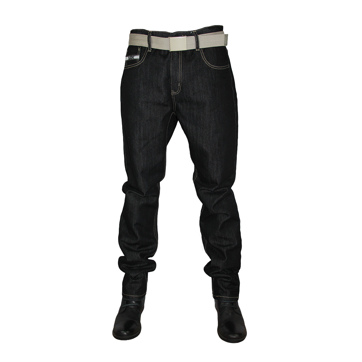 BLACK INDIGO KAM MENS K122-72 SLIM FIT DESIGNER JEANS ALL WAIST ...