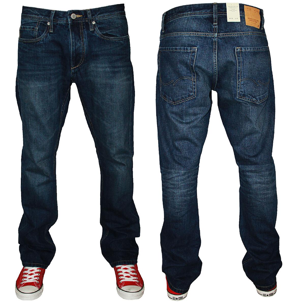 jack jones clark blue mens original regular fit jeans all waist leg sizes ebay. Black Bedroom Furniture Sets. Home Design Ideas