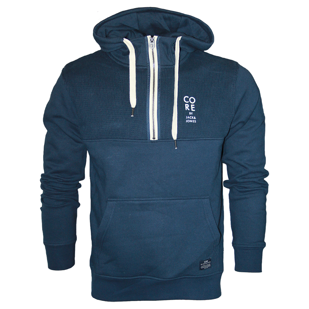 new mens blue hoodies jack amp jones nick sweat core hooded sweat top. Black Bedroom Furniture Sets. Home Design Ideas
