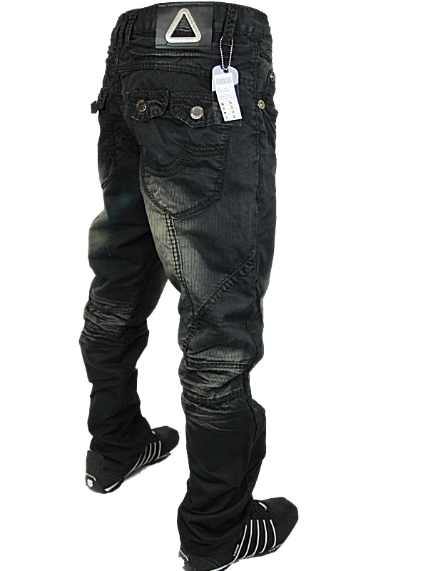 NEW MENS BLACK CRU 10 KV 600 DESIGNER JEANS ALL SIZES