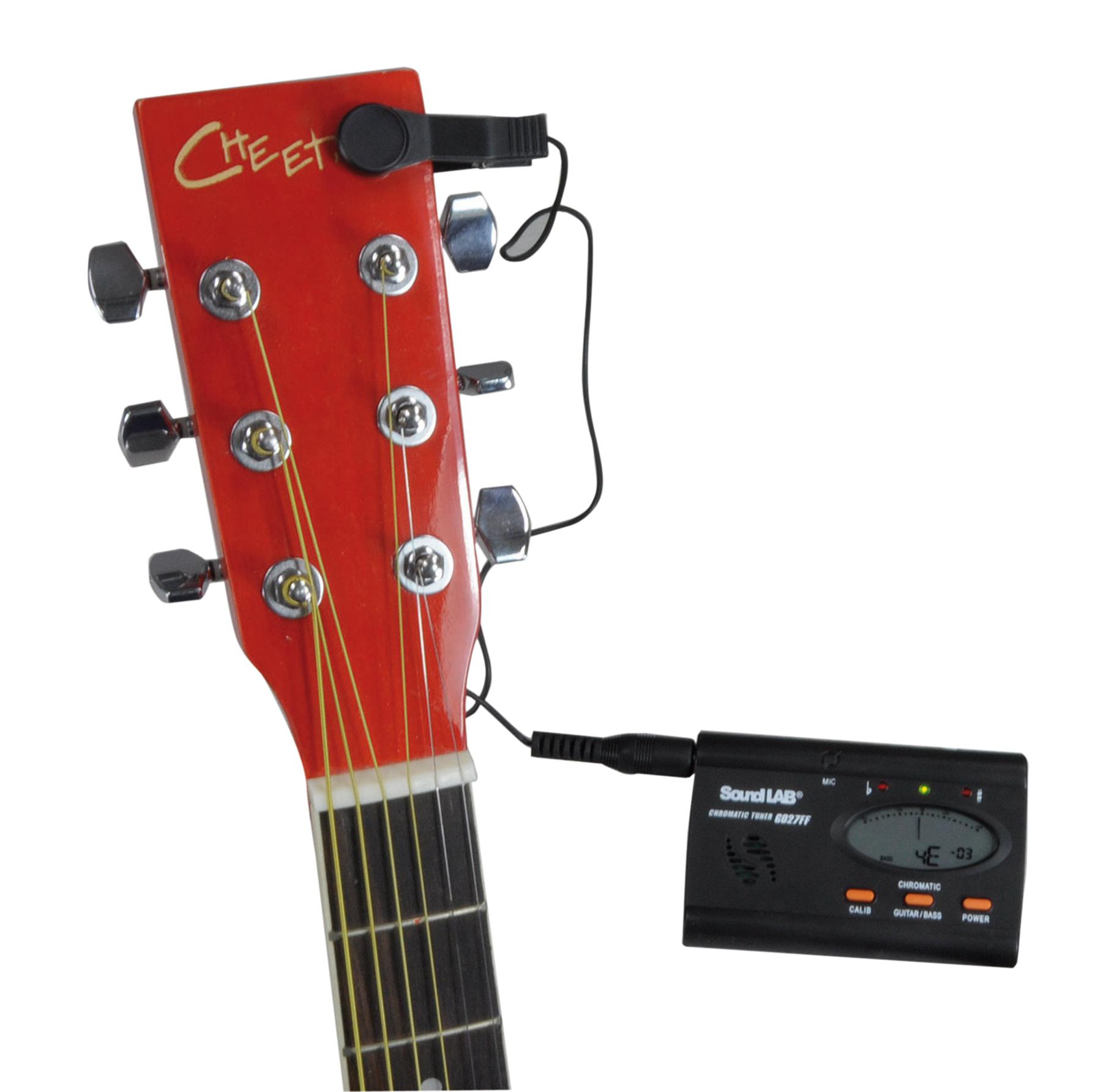 imustbuy soundlab guitar tuner contact microphone ebay. Black Bedroom Furniture Sets. Home Design Ideas