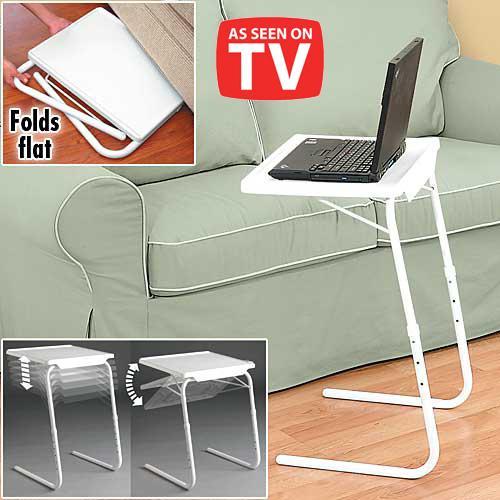 Superior White Folding Foldable Portable Mate TV Dinner Laptop Tray Side Table Desk  Buy Online