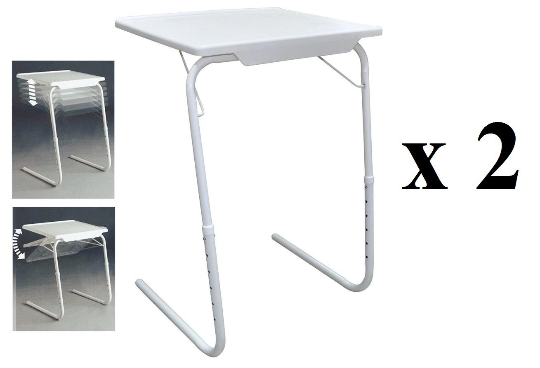 tisch unternehmen x 2 ideal f r tv abendessen laptop puzzles faltbar ebay. Black Bedroom Furniture Sets. Home Design Ideas