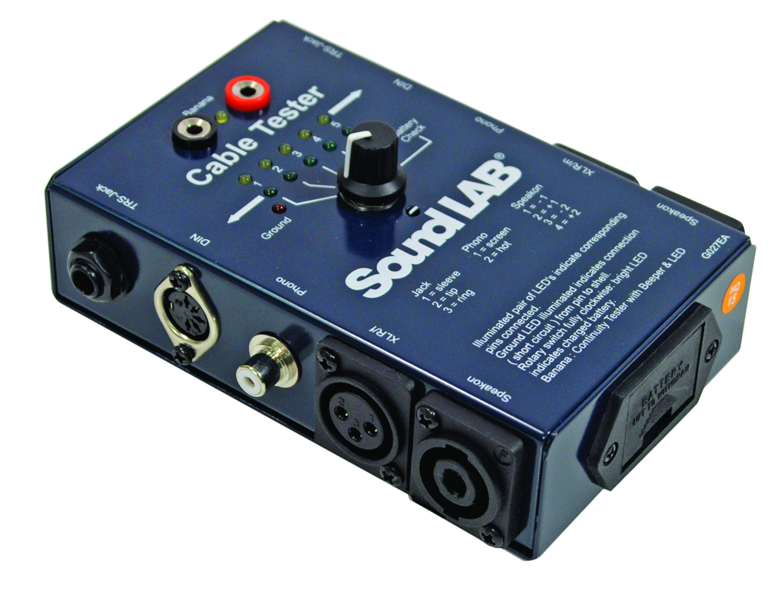 Multi Cable Tester : Soundlab ct multi function cable tester with led