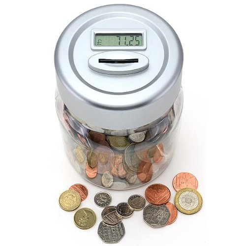 Digital coin counting money jar saving box counters counts coins lcd display ebay - Coin bank that counts money ...