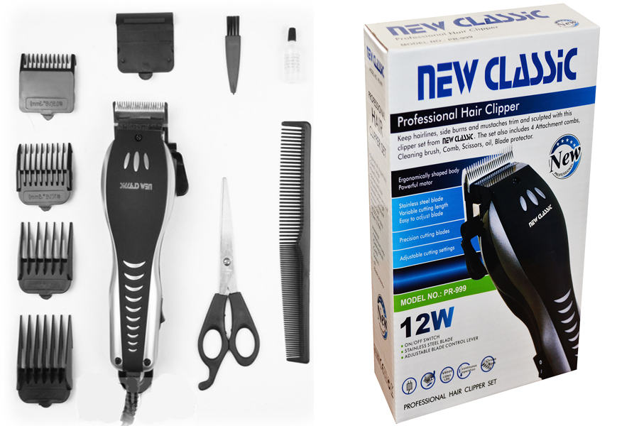 Mens Classic Professional Electric Hair Cutting Clipper Trimmer Shaver Set Combs