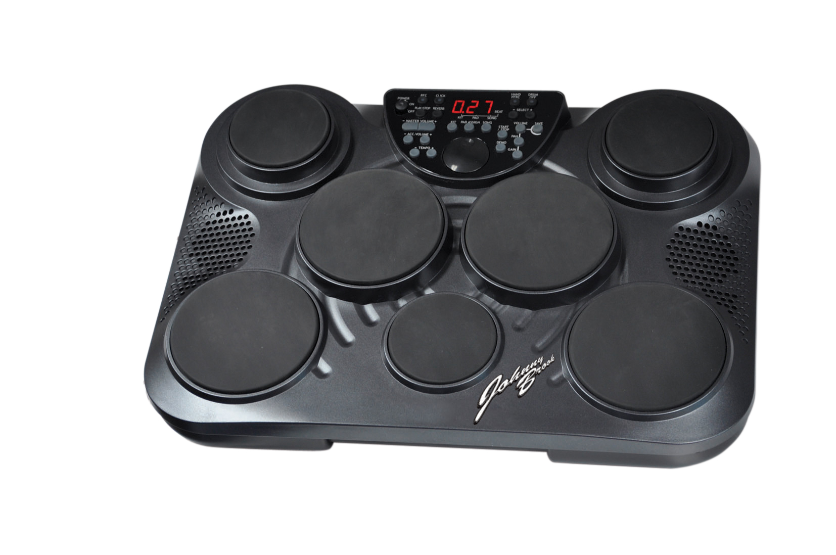 electronic drum machine with 7 drum pads jb400 new ebay. Black Bedroom Furniture Sets. Home Design Ideas