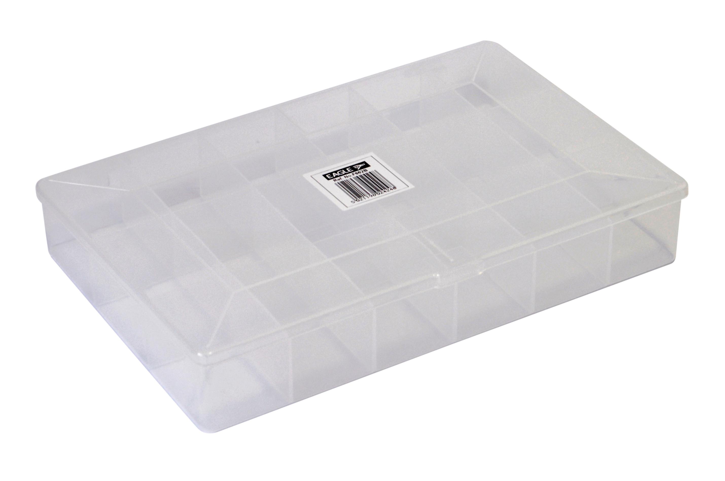 18 compartment crafts plastic storage case box white ebay for Craft storage boxes with compartments