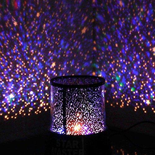 led nachtlicht projektor lampe bunt himmel stern szene bett seite lampe ebay. Black Bedroom Furniture Sets. Home Design Ideas