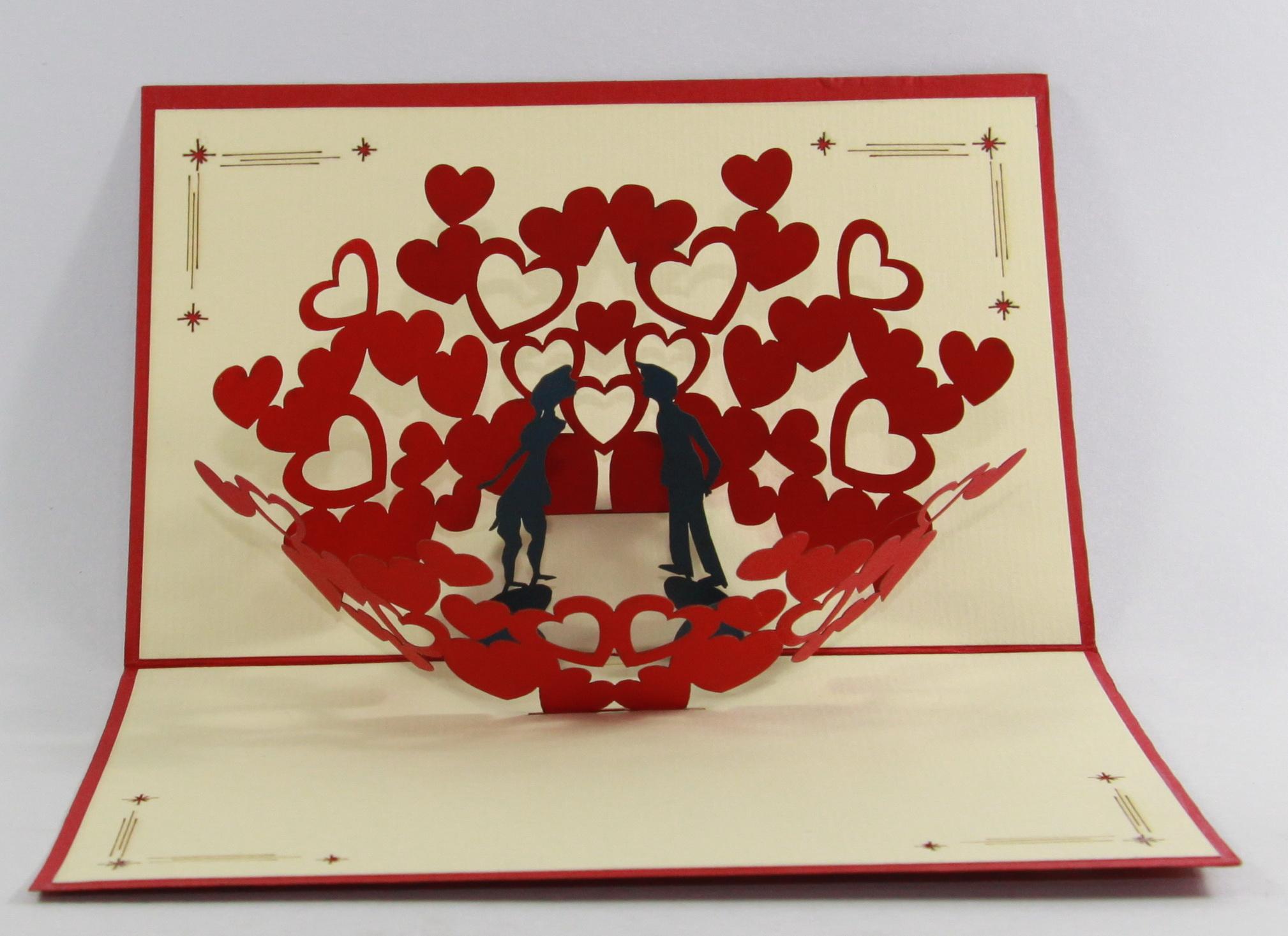 D pop up cards birthday anniversary valentine special