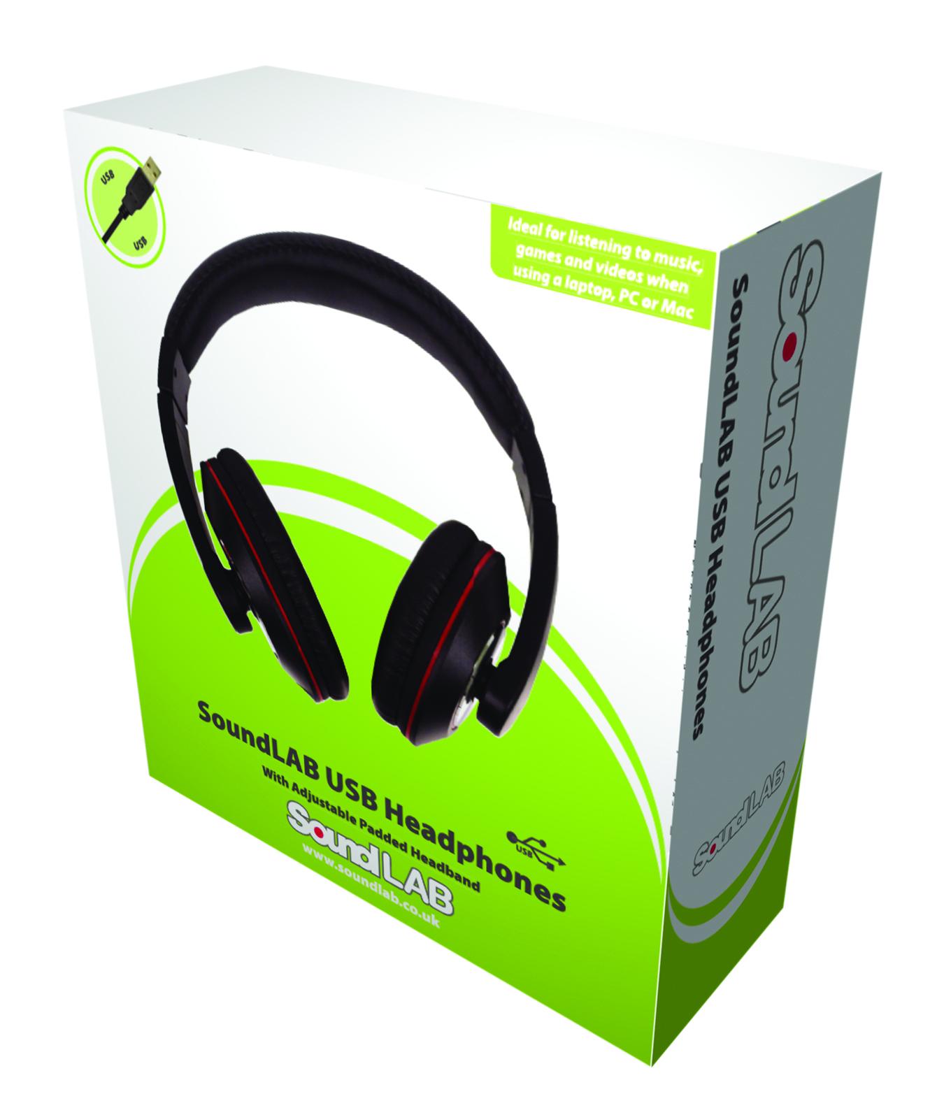 Soundlab stereo usb cuffie con microfono incorporato pc - Cuffie traduzione ...