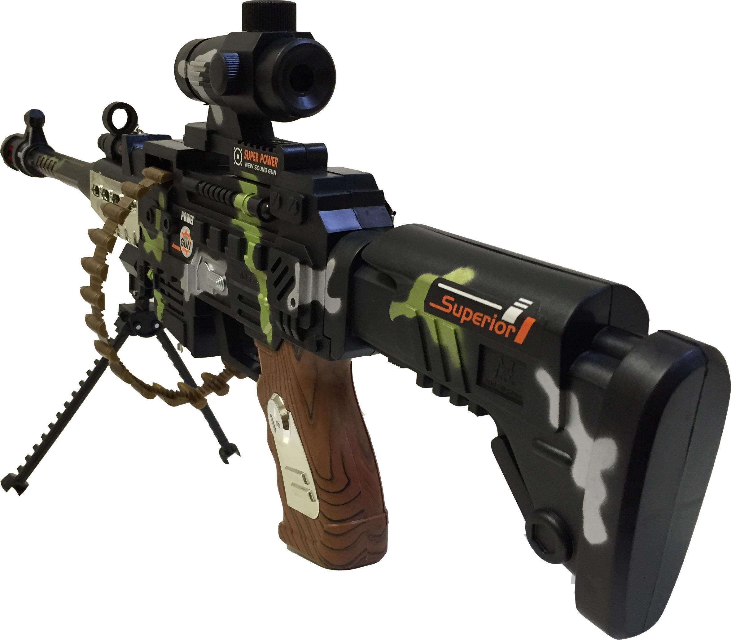 Kids Toy Machine Gun Army Police Sol r With Light Sound