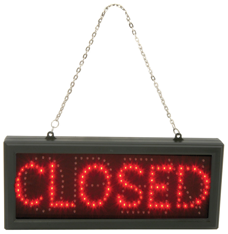 Shop Open Sign Lights: LED OPEN/CLOSED SIGN FOR SHOP OR BUSINESS WINDOW HANGING