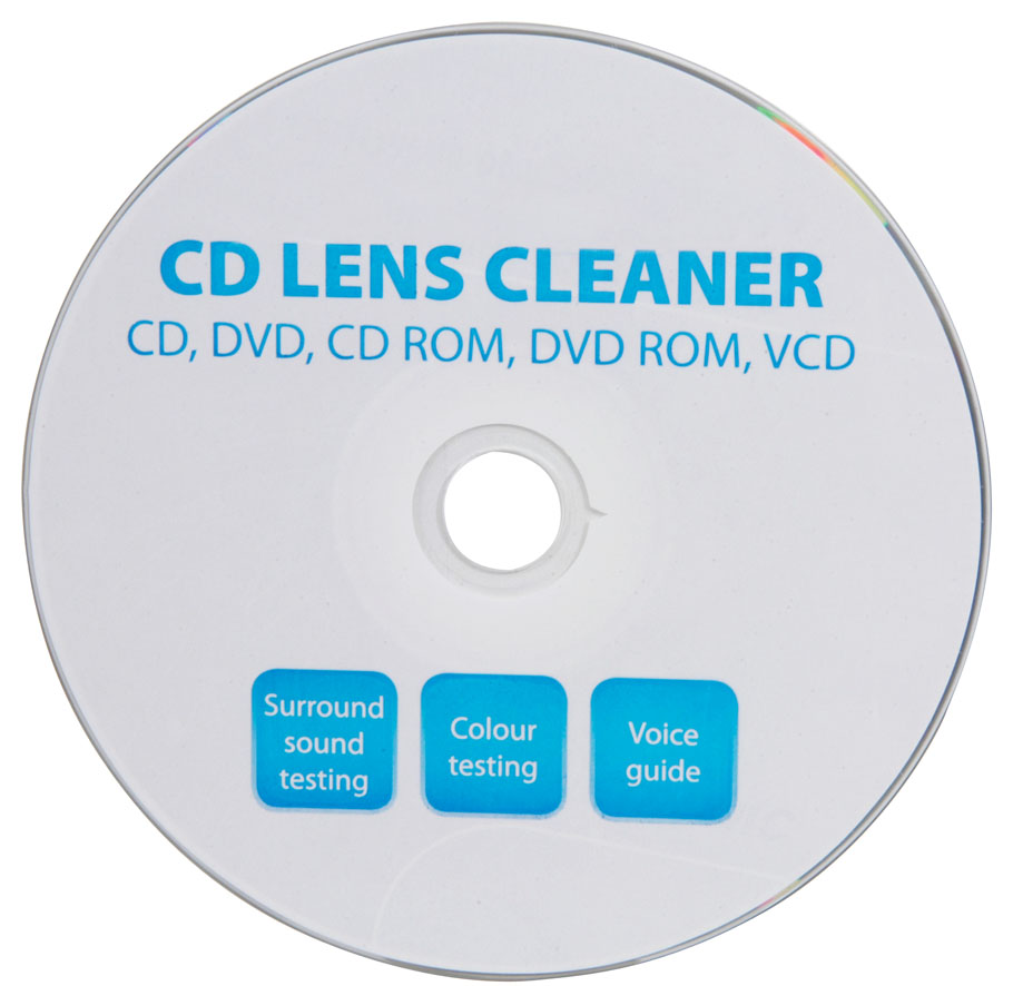 Laser lens cleaner for cd dvd players