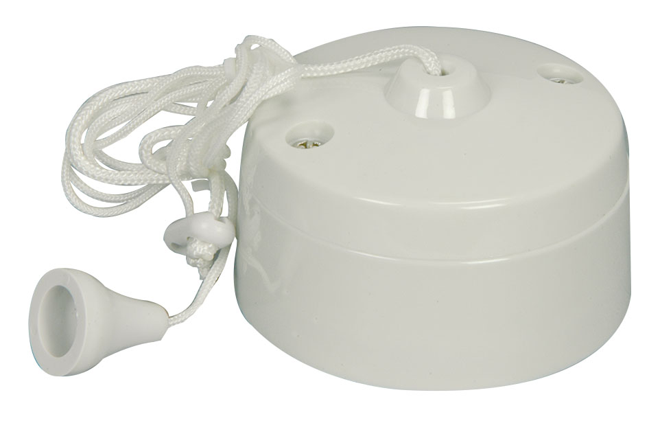 Pull Cord Switch 6a 1 Way Ceiling Mounted Switch For
