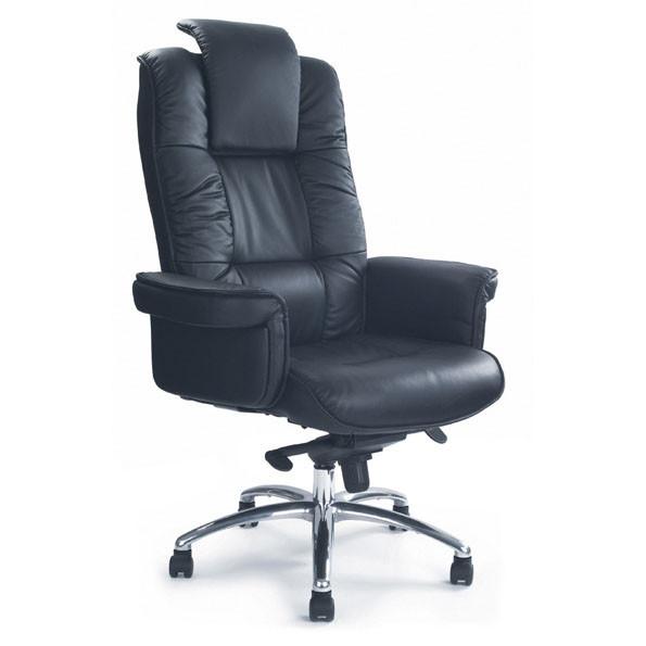 Luxurious Leather Faced Gull Wing Executive Heavy Duty Arm Chair 1611KTAG LBK