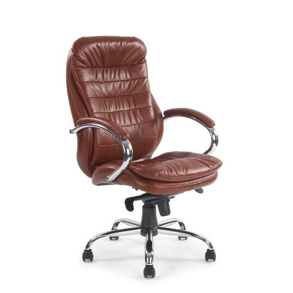 high back leather faced executive heavy duty office arm