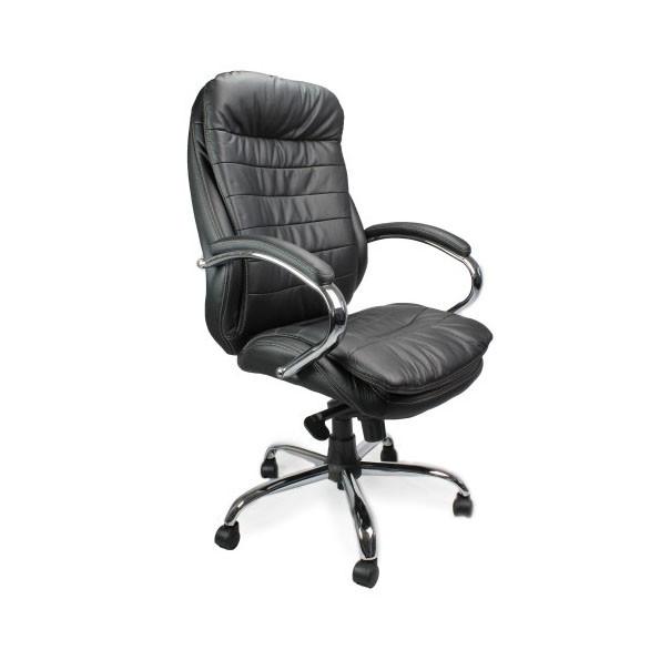 High Back Leather Faced Executive Heavy Duty Office Arm Chair 618KTAG EBay