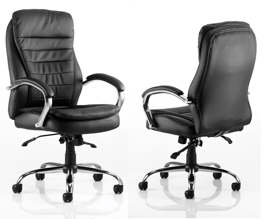 ROCKY Luxury Large High Back Leather Heavy Duty Executive Office Swivel Chair
