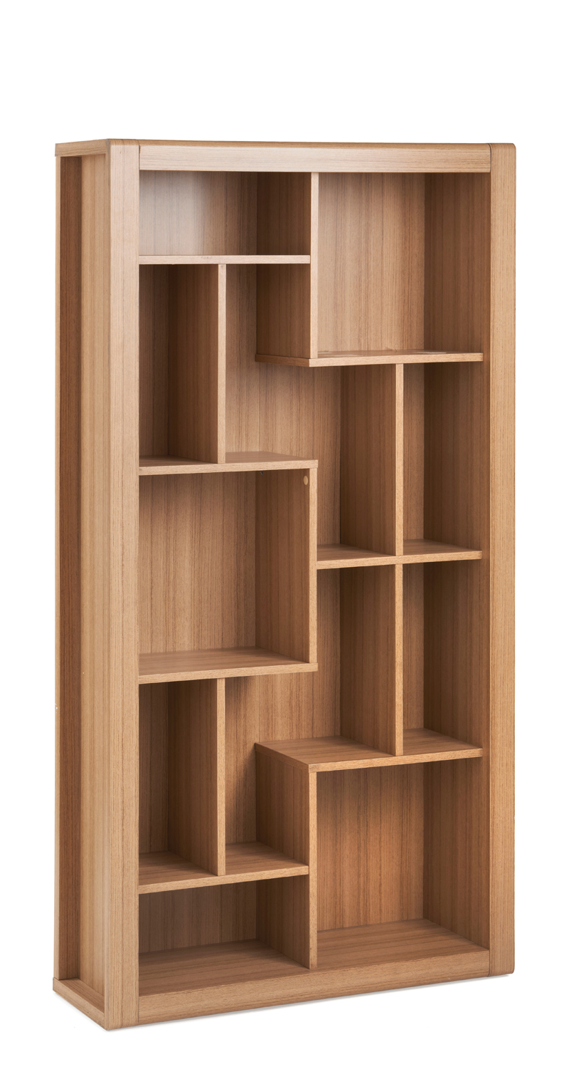 RIO Stylish Small/Home Office Luxury Oak Desk WorkStation Pedestal Book Case Set