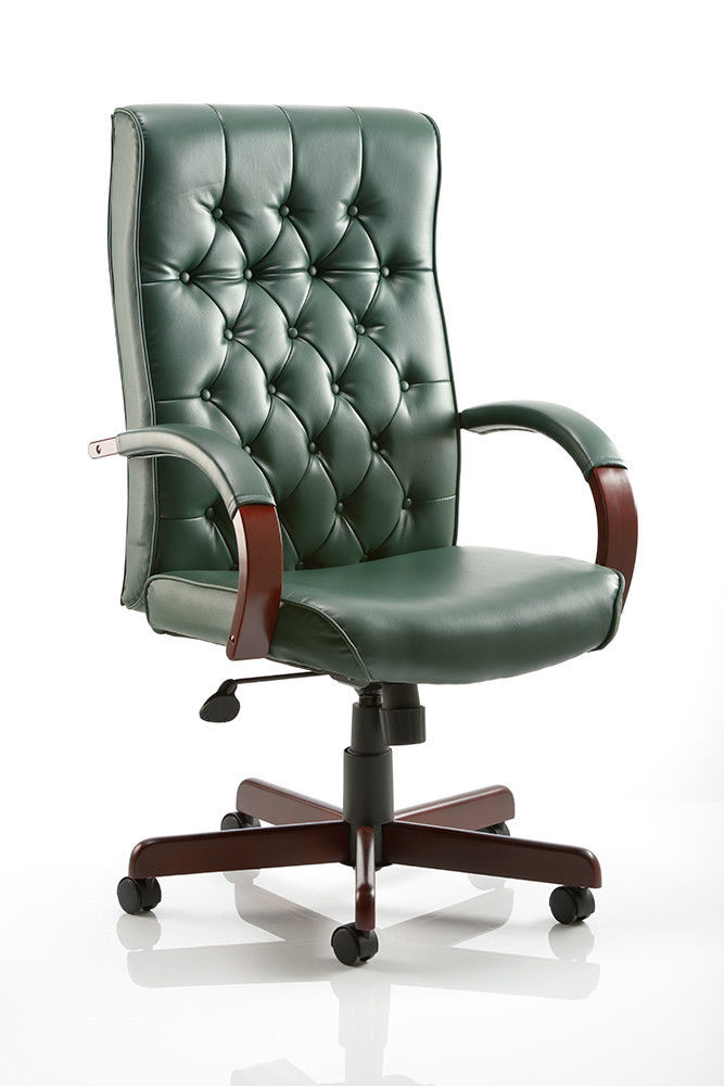 ns deep button traditional high back leather executive office swivel
