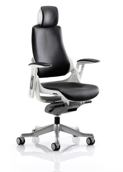zephyr high back leather executive orthopedic office computer swivel chair ebay. Black Bedroom Furniture Sets. Home Design Ideas