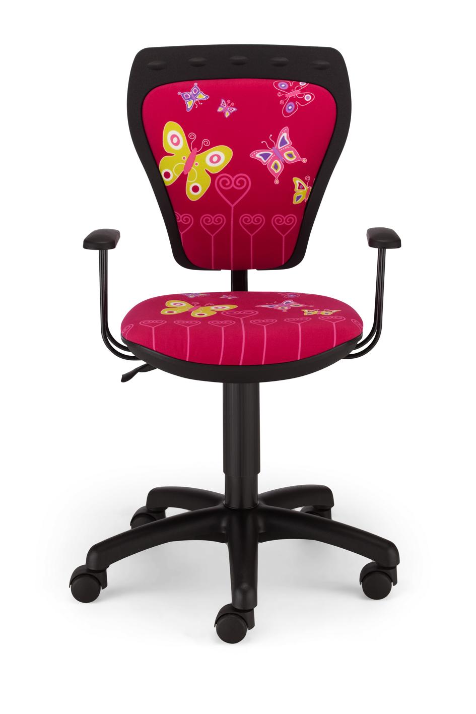 Childrens Cartoon Butterfly Girl Pink Kids Computer Desk Swivel Bedroom Chair