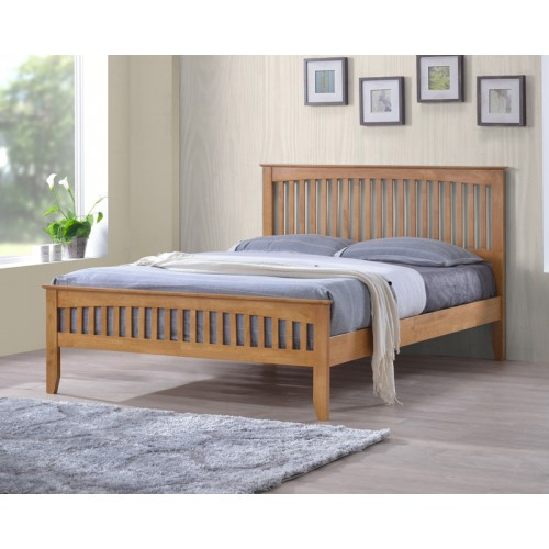 Sandhurst Modern Oak Solid 3ft Low Foot End Single Bed