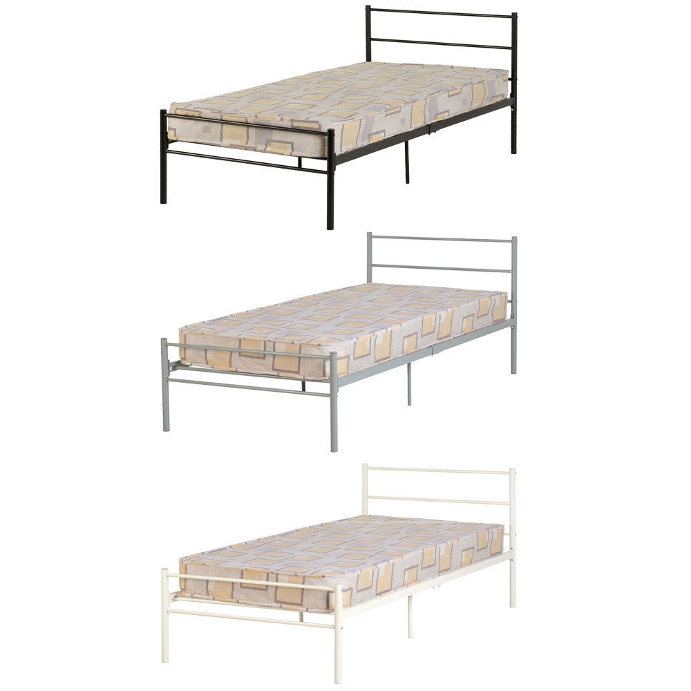 Devon 3ft single metal bed frame bedroom furniture childrens home ebay Home furniture single bed