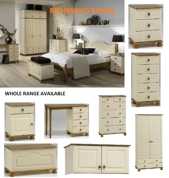 Steens Richmond Cream Pine Home Bedroom Furniture Full Range Ebay