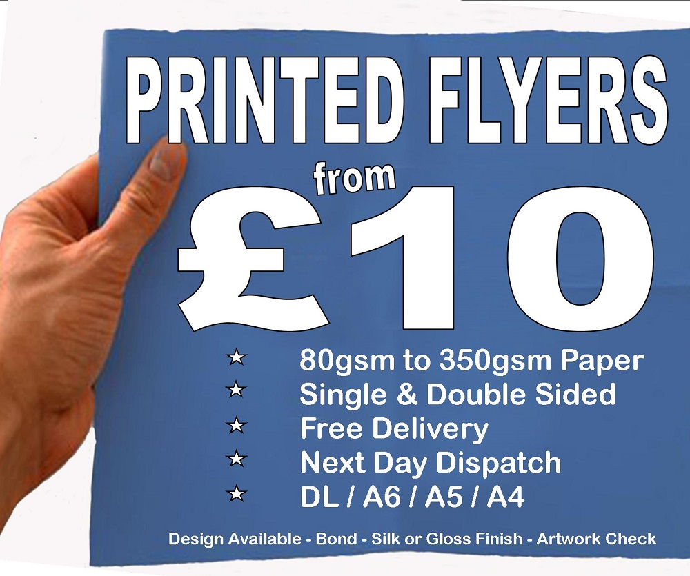 10 00 Full Colour Printed Flyers In A4
